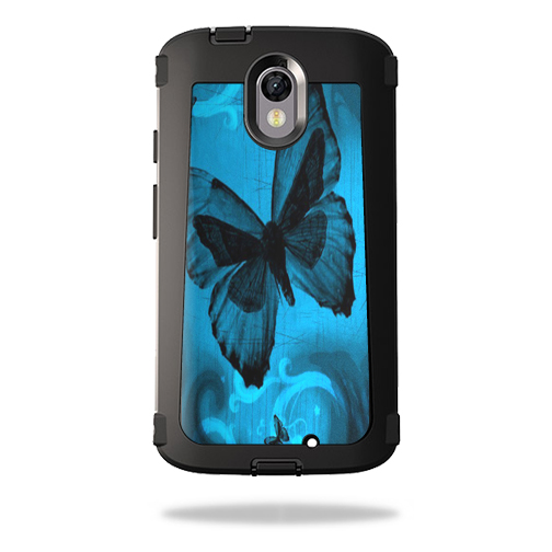 MightySkins Protective Vinyl Skin Decal for OtterBox Defender Motorola Droid Turbo 2 wrap cover sticker skins Dark Butterfly