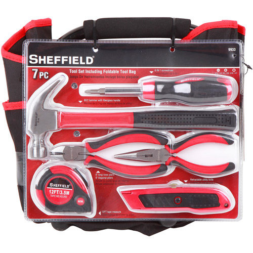 Sheffield 7-Piece Tool Set with Foldable Tool Bag