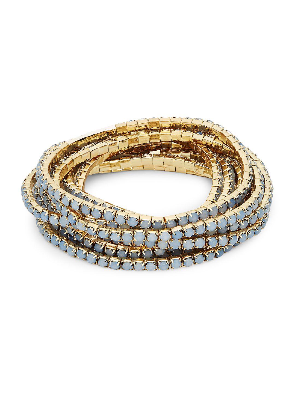 Goldtone and Multi-Stone Bracelets