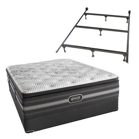 Katarina Twin Xl Size Plush Mattress And Standard Box Spring Set With Frame Beautyrest Black