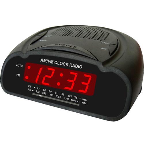 Supersonic Sc-370 Sc370 Digital Alarm Clock With Am/fm Radio