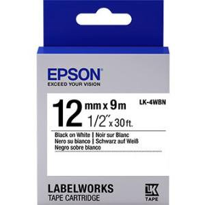 Laminated Tape Thermal Cartridge - Epson LabelWorks Standard LK Tape Cartridge ~1/2