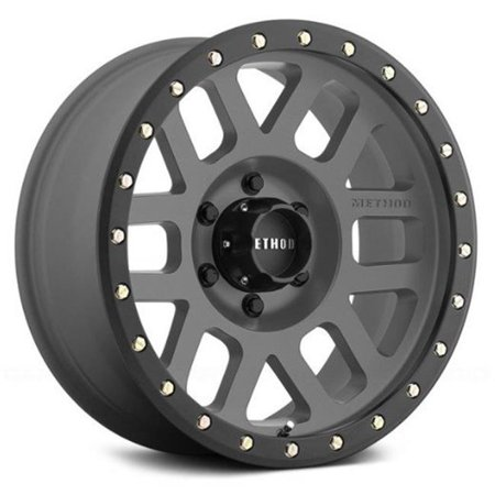 Method Race Wheels MRWMR30929087818 20 x 9 in. Grid Titanium with Matte Black Lip Wheel - image 1 de 1