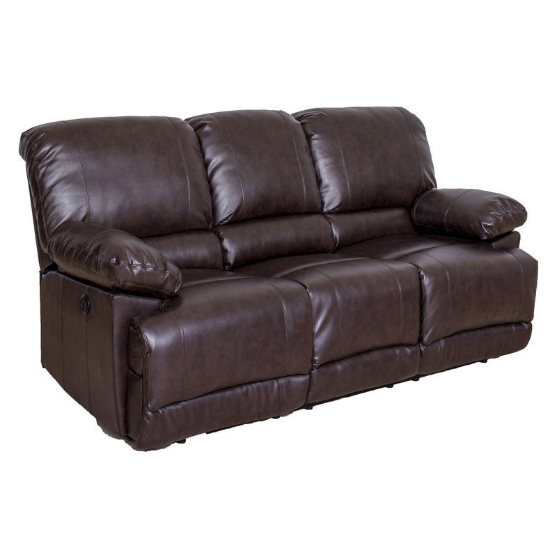 Corliving Bonded Leather Power Reclining Sofa With Usb Port