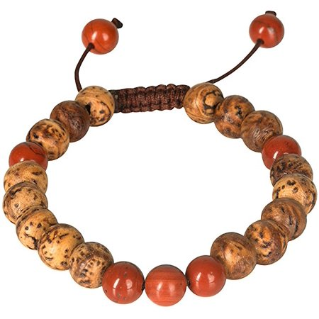 Bodhi Seed Adjustable Bracelet Wood Wooden Healing Meditation Yoga Buddhist Spiritual Prayer Mala Wrist Beads Chakra Women Fashion Boho Hippie Bohemian Everyday (Hippie Beads)