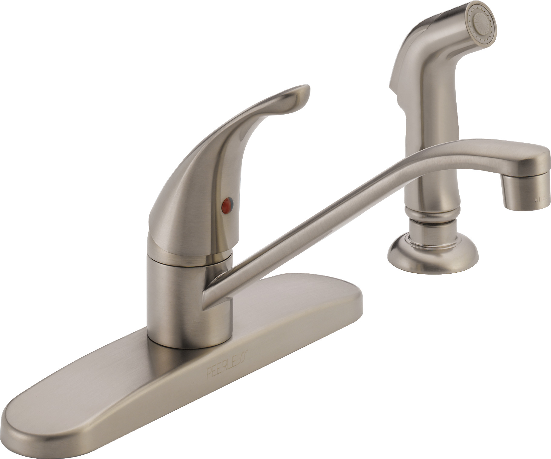 Peerless Single-Handle Side-Spray Kitchen Faucet, Stainless ...
