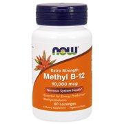NOW Supplements, Methyl B-12 (Methylcobalamin) 10,000 mcg, Nervous System Health*, 60 Lozenges