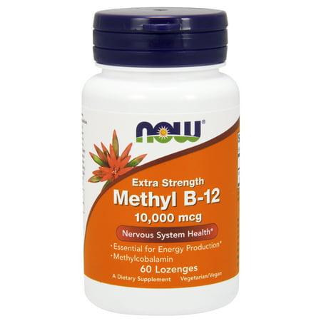 NOW Supplements, Methyl B-12 10,000 mcg, 60