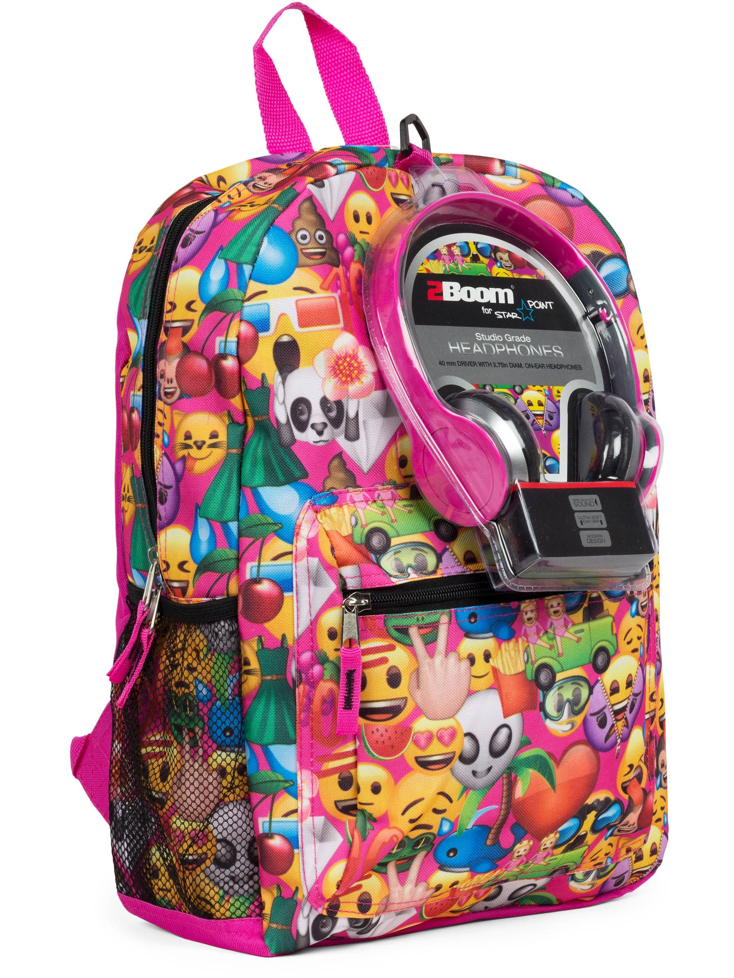 "Emoji 17"" Backpack with Headphones by RALME"