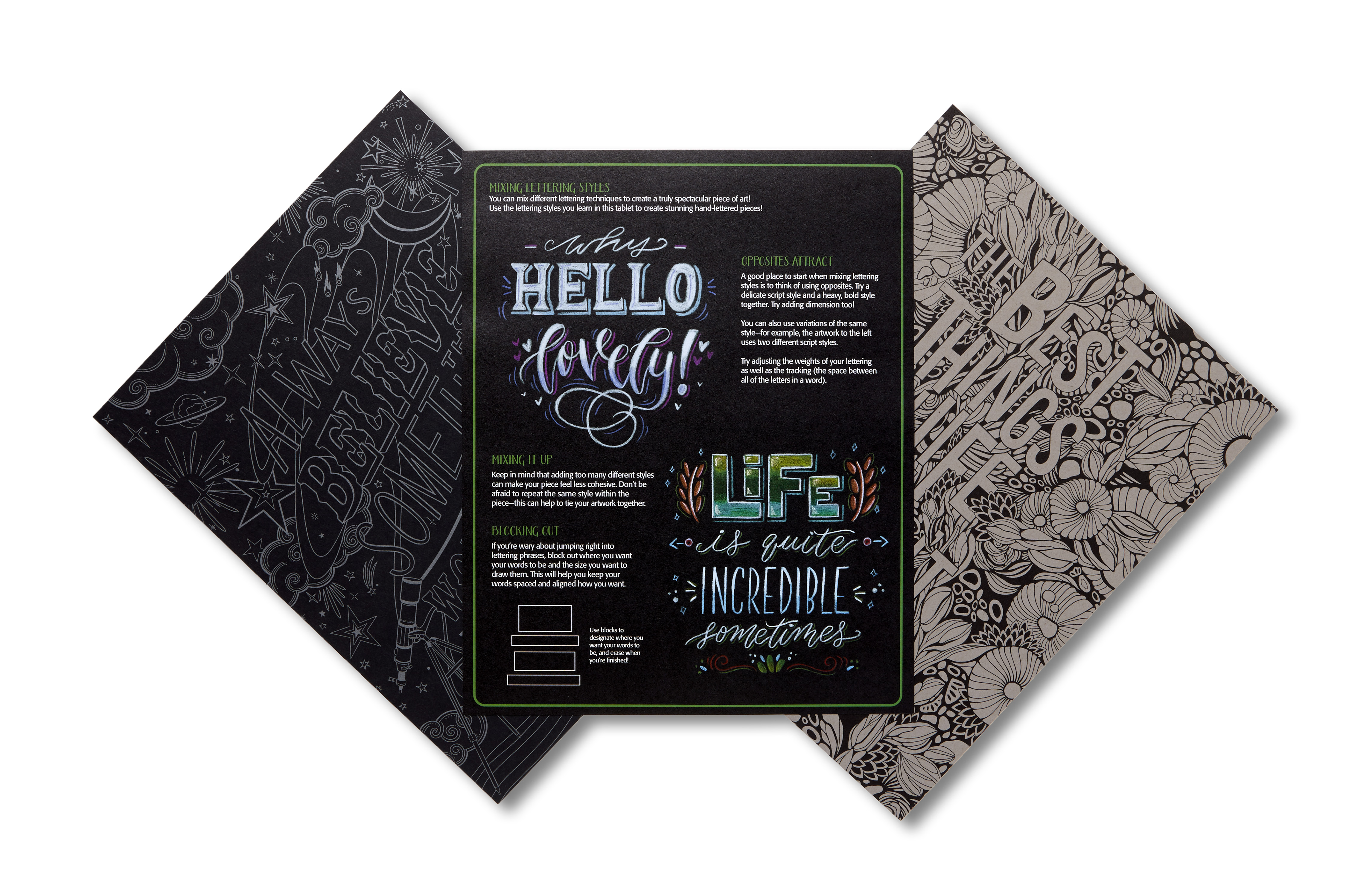 Crayola Signature Creative Lettering Inspiration Pad  Pages Of