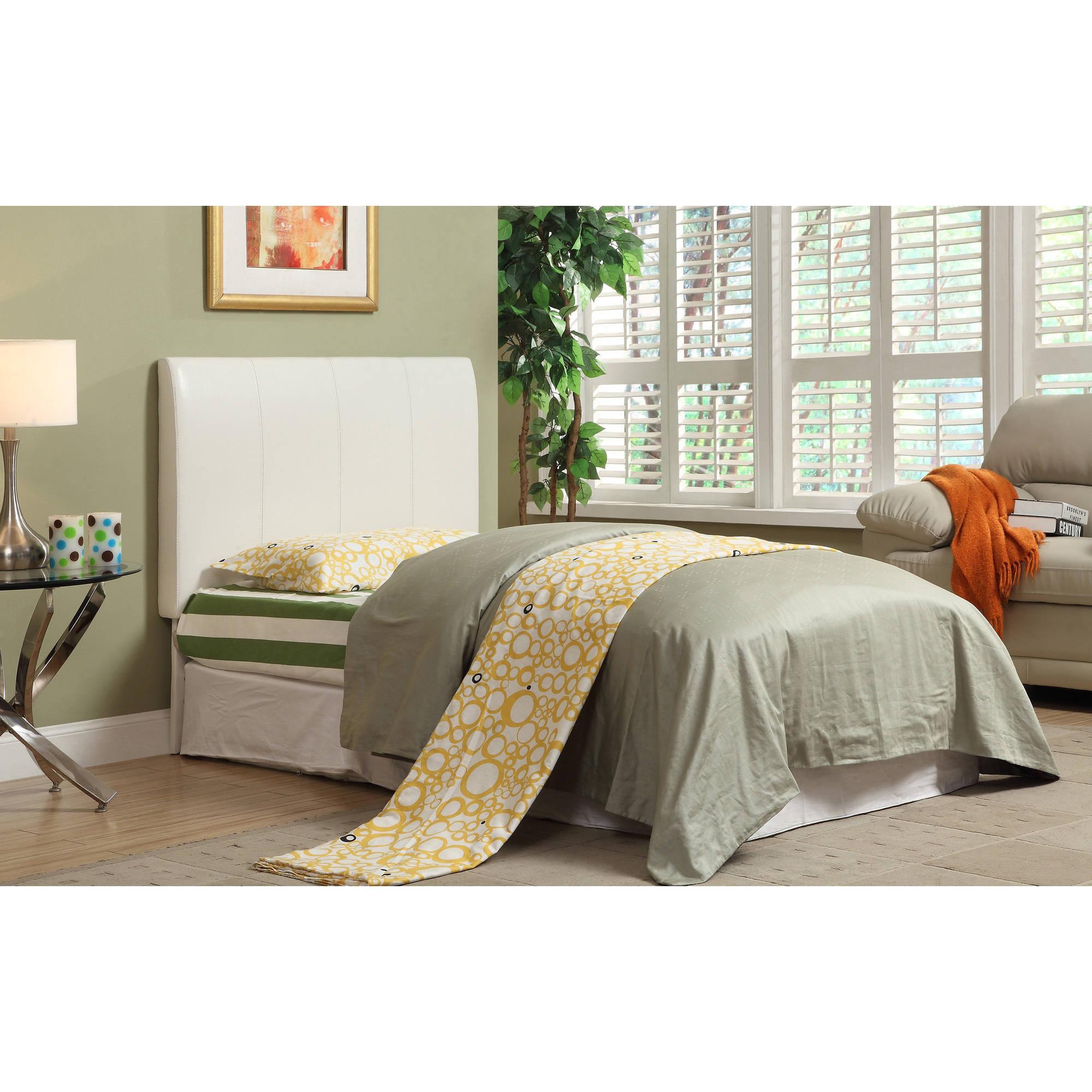 Furniture of America Marylou Modern Leatherette Twin Headboard, Multiple Colors