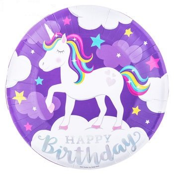 Unicorn Birthday Large Plates Kids Party Supplies 10 Count