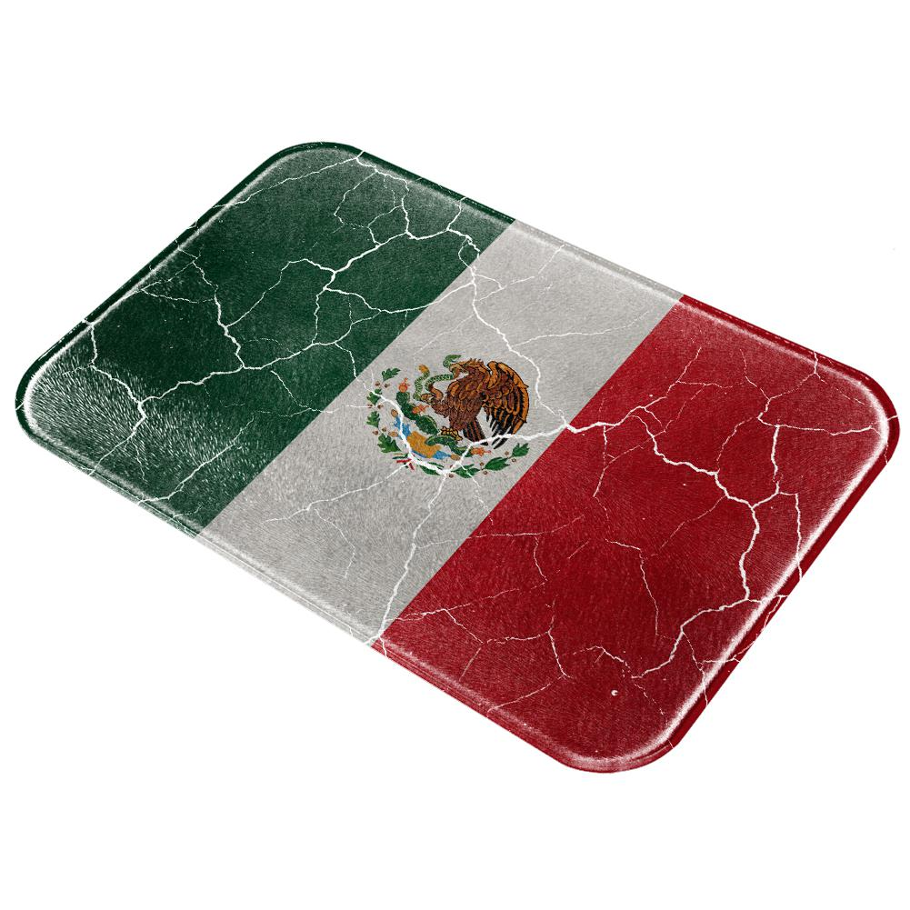 Cinco De Mayo Mexican Flag Distressed Grunge All Over Glass Cutting Board