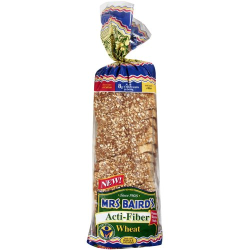Mrs Baird's Acti-Fiber Wheat Bread, 24 oz