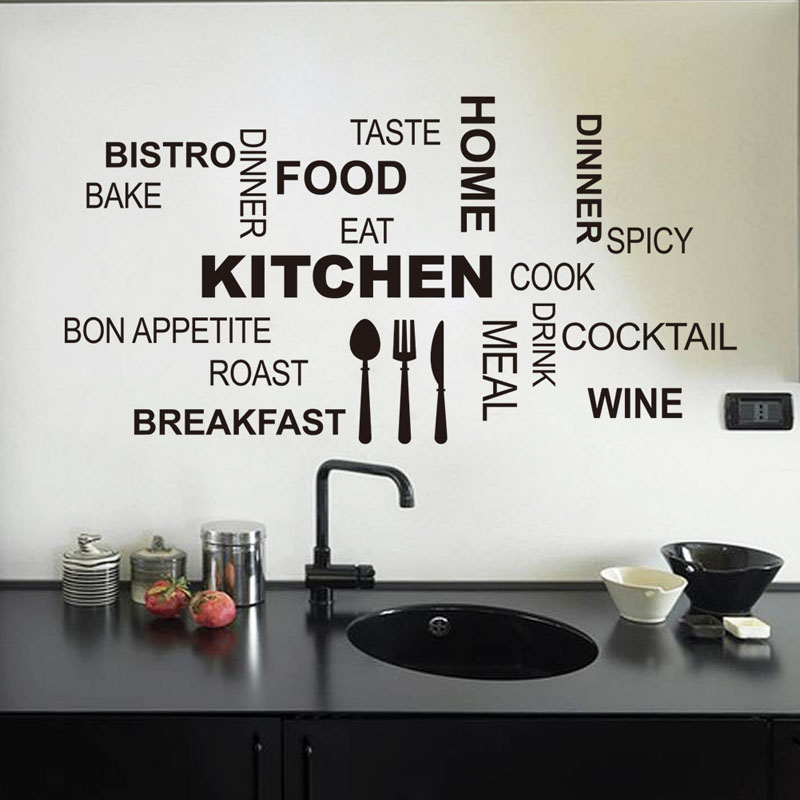 Kitchen Removable Vinyl Wall Stickers Mural Decal Quotes Art Home Decor