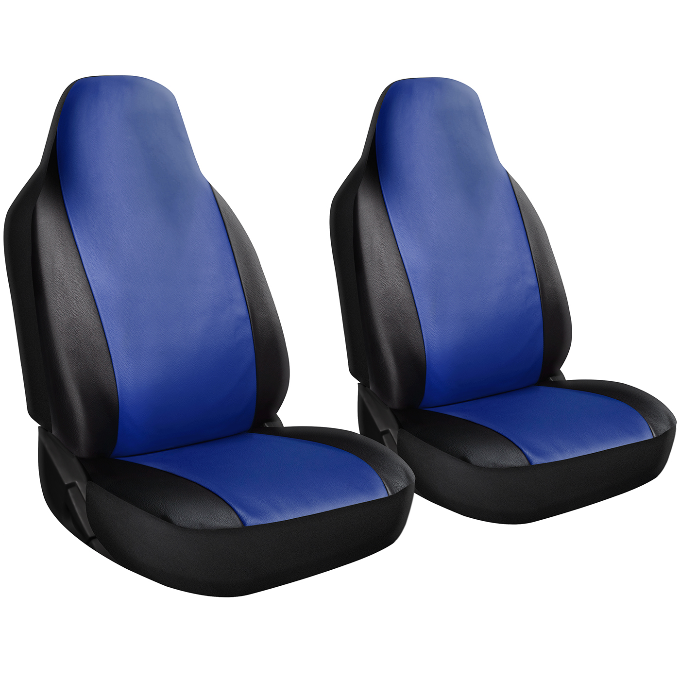 Low Back PU Leather 2 Pc Seat Covers for Front and Back Passenger Seats