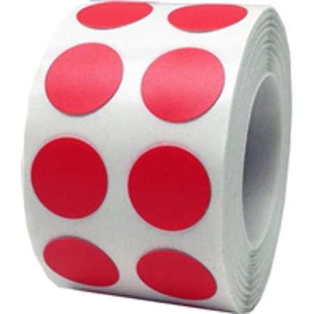 Red Circle Dot Stickers, 1/2 Inch Round, 1000 Labels on a Roll
