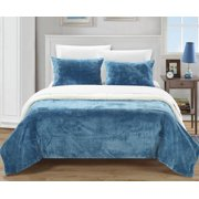 Chic Home Ernest Plush Micro Suede Sherpa Blanket Set
