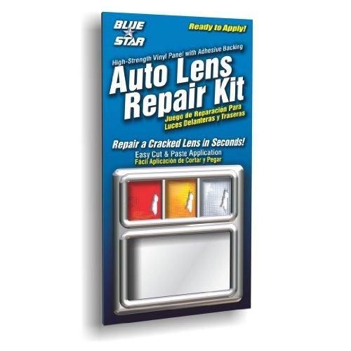 Blue Star Auto Reverse Light / Tail Light / Head Light Lens Repair Piece, Clear (SMOOTH)