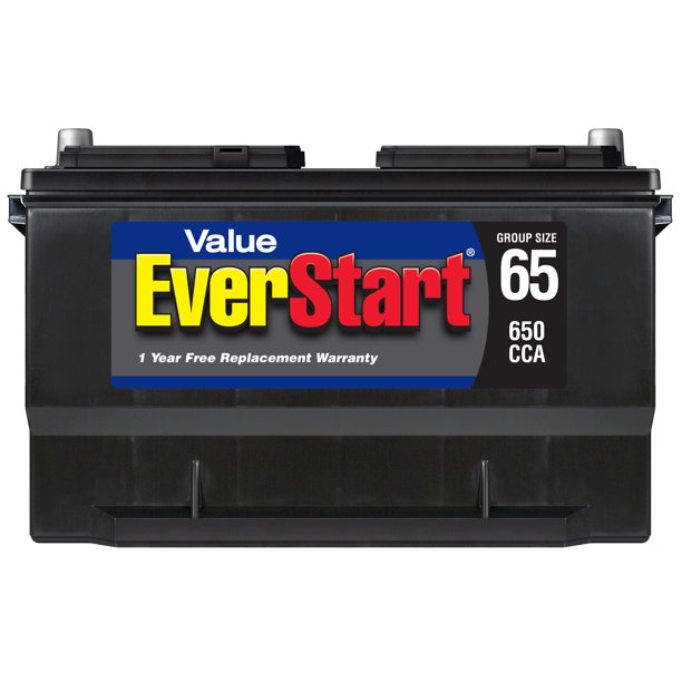 EverStart Value Lead Acid Automotive Battery, Group Size 65 (12 Volts/650 CCA)
