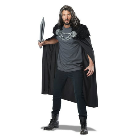 adult wolf clan warrior cape by california costumes 60648 - Adult Wolf Costumes