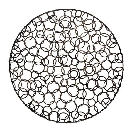 Brayden studio metal circle disk wall decor for Al ahram aluminium decoration