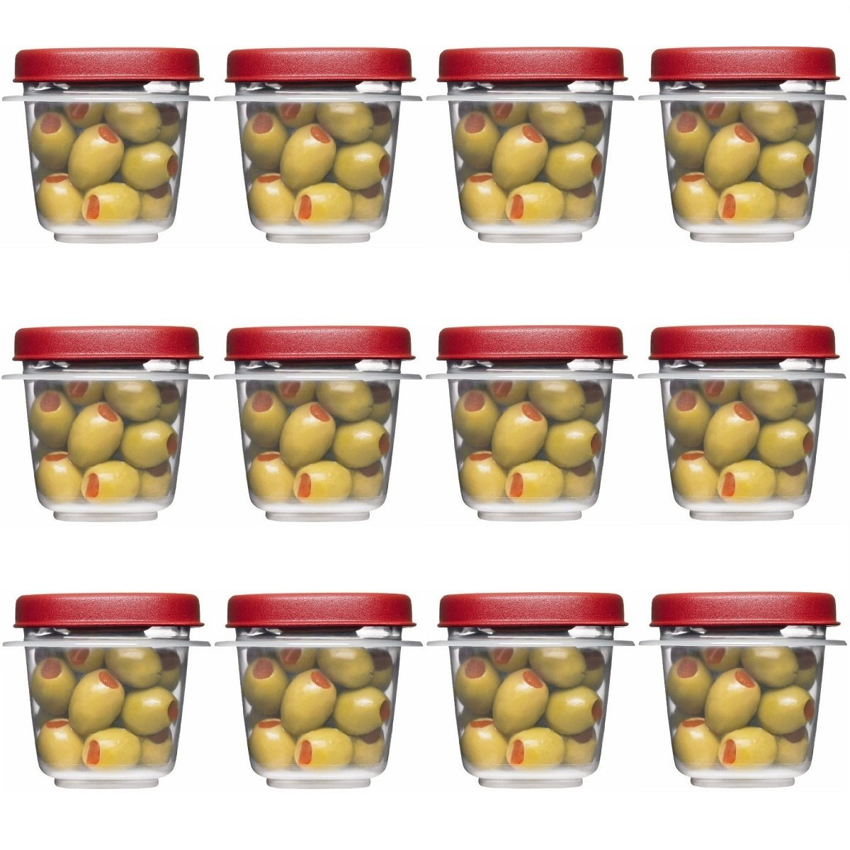 Rubbermaid Easy Find Lids Square 1/2-cup Food Storage Container (Pack of 8 Cups)
