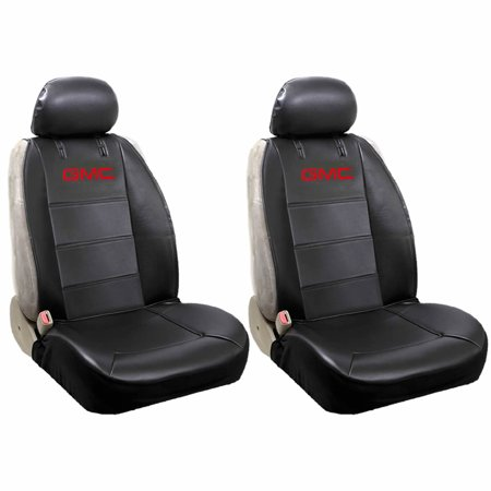 Official Licensed 2 Piece Synthetic Leather Sideless Seat Covers 2 Headrest Cover Car Truck SUV for - Gmc Sonoma Seats