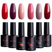 Makartt Red Gel Nail Polish Kit 10 ML 6 Bottles Perfect Glamour Goddess Manicure Series UV LED Lamp Required Soak Off UV Gel Nail Polish Gift Box P-13 - Best Reviews Guide