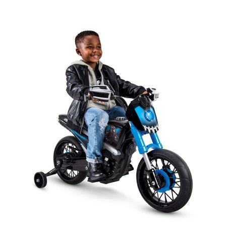 Marvel Black Panther 6V Battery-Powered Motorcycle Ride-On Toy by Huffy Kids Outdoor Motorcycle