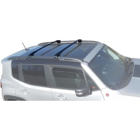 BrightLines Jeep Renegade Aero Cross Bars,Roof Racks 2015-2019 ()