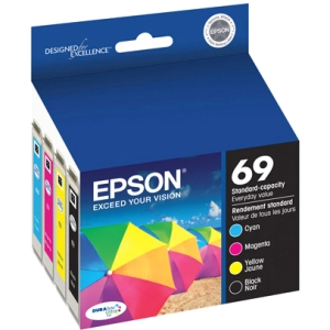 Epson 69 Standard-capacity Black/Color Combo Pack Ink Cartridges
