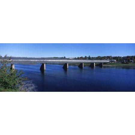 Hartland Bridge worlds longest covered bridge across the Saint Johns River Hartland New Brunswick Canada Canvas Art - Panoramic Images (18 x 7)