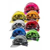 Portwest PV64ORR Peak View Plus Safety Helmet Ratchet Polycarbonate Work Hard Hat