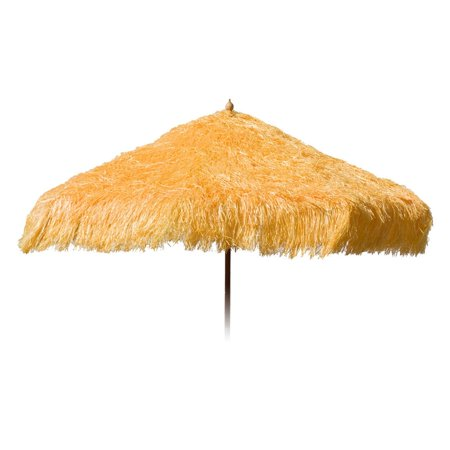 9ft Palapa Tiki Tilting Party Umbrella Home Patio Canopy Sun Yellow - Patio Pole - Tiki Umbrellas