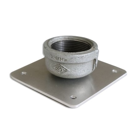 Additional Ceiling Plate for PCMD Projector Mounts with NPT Adapter/Fitting (Ceiling Plate For Projector)