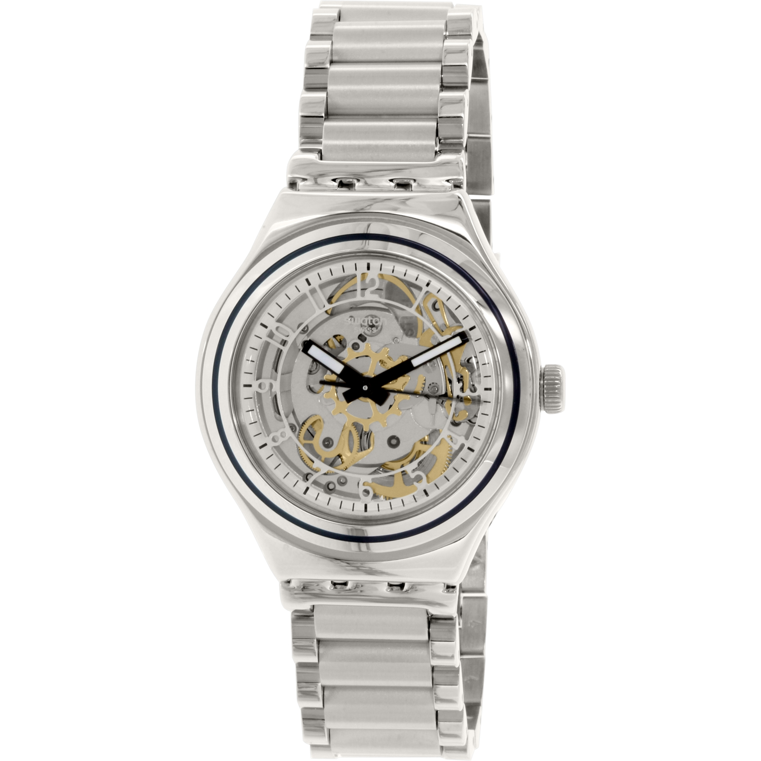 Swatch Men's Irony YAS112G Silver Stainless-Steel Automatic Watch by Swatch