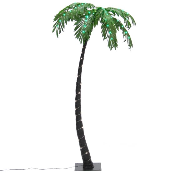 Best Choice Products Artificial Decorative Prelit Palm Tree with 88 LED Lights