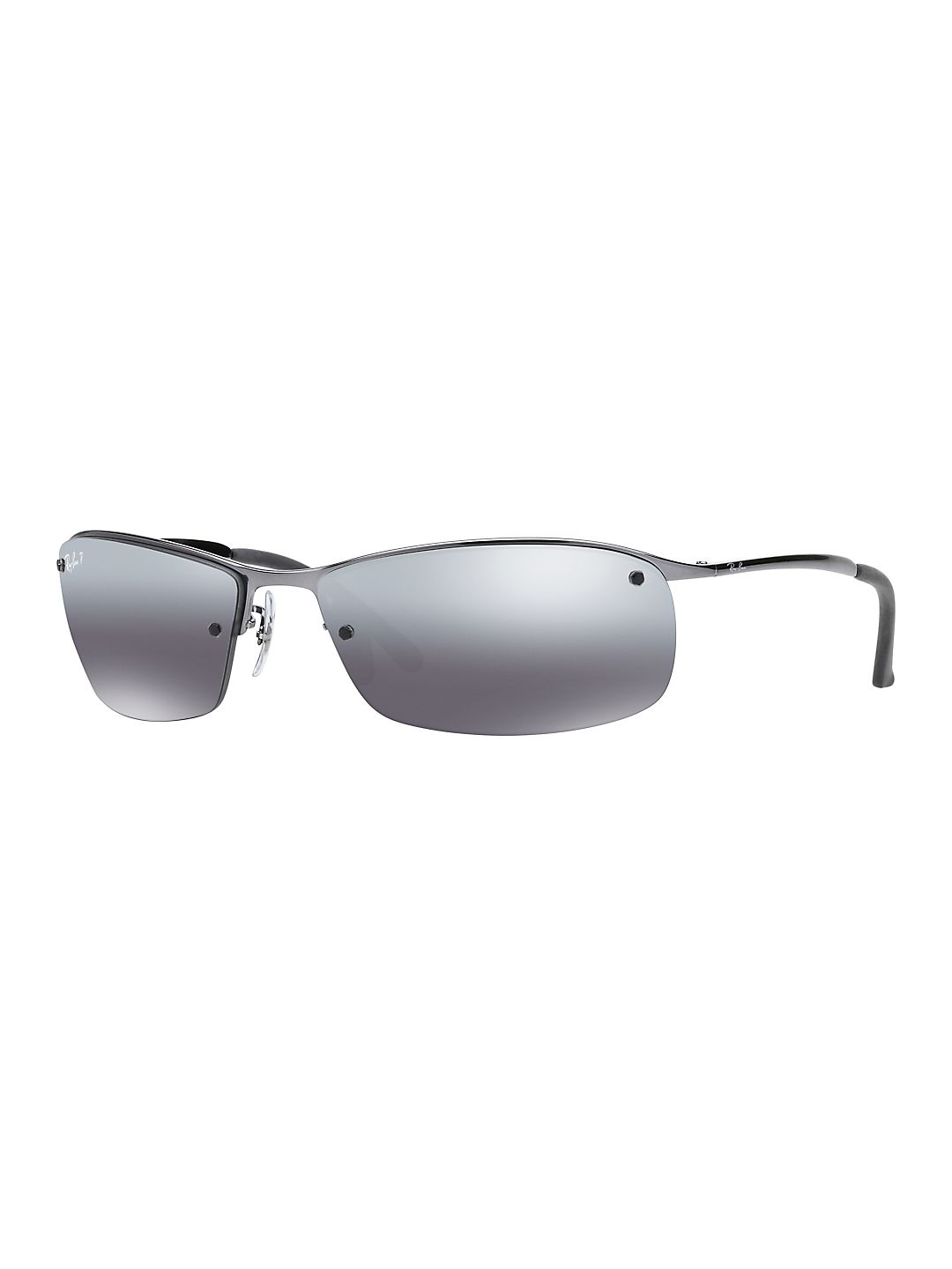 Ray-Ban Men's RB3183 Rectangle Metal Sunglasses, 63mm