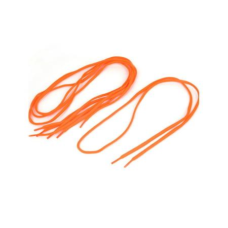 2 Pairs 110cm Orange Nylon Round Cord Shoe Laces Shoelaces for Sneakers - Orange Shoelaces