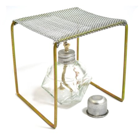 """Eisco Labs Alcohol Burner with Burner Stand (Approx. 5""""x5""""x5"""") Starter Set"""