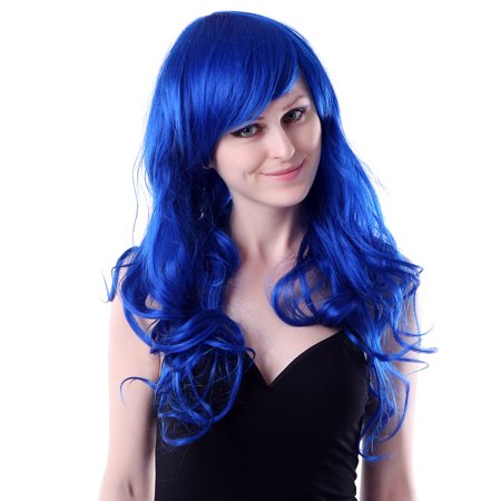 HDE Womens Long Wavy Wig Curly Glamour Hair Style for Halloween Cosplay - Halloween Costume Red Wig