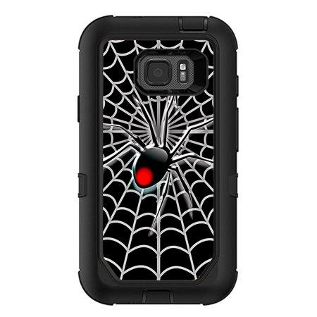 skins decals for otterbox defender samsung galaxy s7 active case / black widow spider web (Defender Spider)