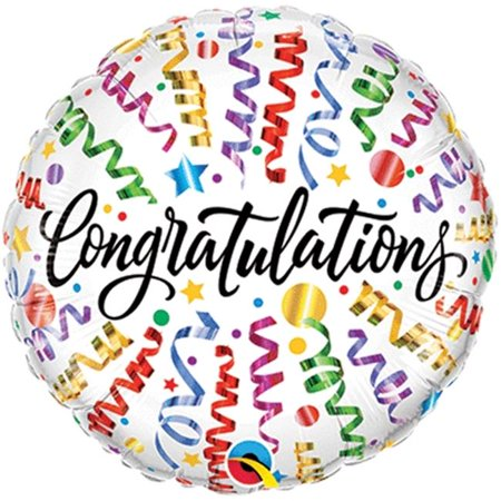 Loftus International Q5-5812 18 in. Congratulations Streamers - Glow In The Dark Streamers And Balloons
