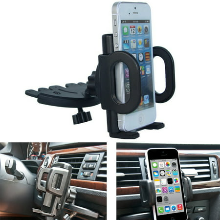AGPTEK Car CD Dash Slot Mount Bracket Holder Dock For GPS iPhone Cellphone Rotatable