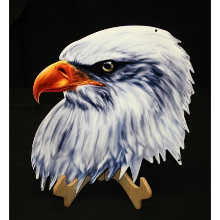 American Bald Eagle Head Cut Out Metal Wall Sign - 18