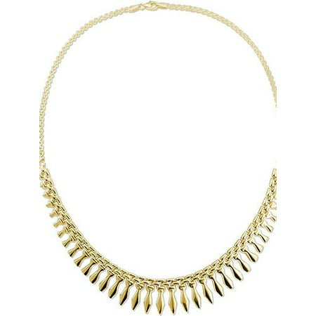 Gold-Tone Sterling Silver Cleopatra Necklace - Cleopatra Costume Necklace