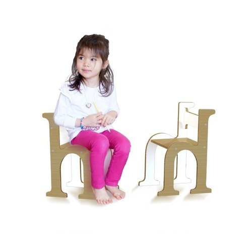 Tambino Typographic ''H'' Kid's Novelty Chair
