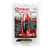 Fox 40 Electronic 3 Tone Whistle with Adjustable Wrist Lanyard, Red and Black