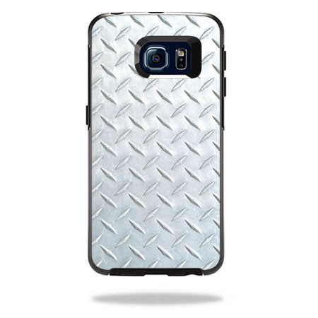 MightySkins Protective Vinyl Skin Decal for OtterBox Symmetry Galaxy S6 Edge Case wrap cover sticker skins Diamond Plate
